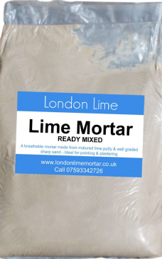Traditional ready mixed Lime Putty Mortar 25kg bag x 10